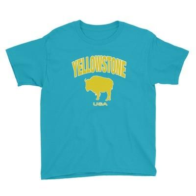 Yellowstone Wyoming Montana Idaho - Youth T-Shirt (Multi Colors) The Rockies American Rocky Mountains
