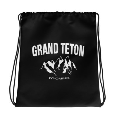 Grand Teton Wyoming USA - Drawstring bag - The Rockies American Rockies The Rocky Mountains