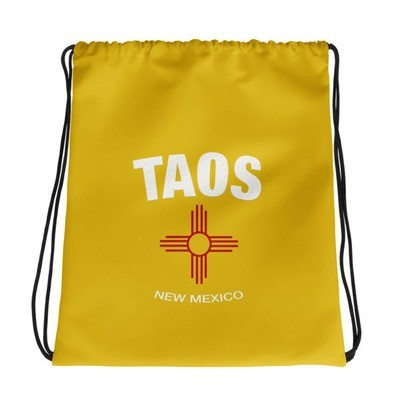 Taos New Mexico USA - Drawstring bag - The Rockies American Rockies The Rocky Mountains