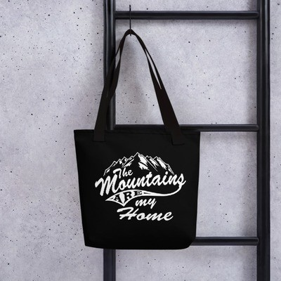 Mountains Are My Home - Tote bag