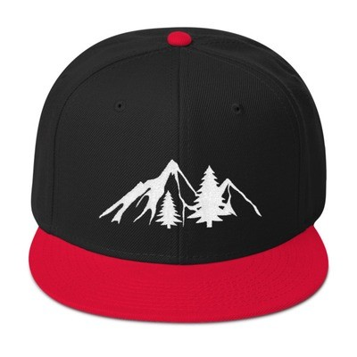 Mountains & Pine - Snapback Hat (Multi Colors)