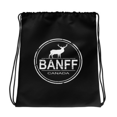 Banff Alberta Canada - Drawstring bag - The Rockies Canadian Rockies Canadian Rocky Mountains