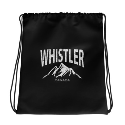Whistler British Columbia Canada - Drawstring bag - The Rockies Canadian Rockies Canadian Rocky Mountains