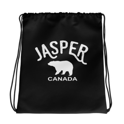 Jasper Bear Alberta Canada - Drawstring bag - The Rockies Canadian Rockies Canadian Rocky Mountains