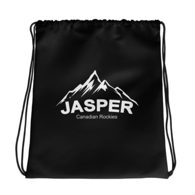 Jasper Mountain Alberta Canada - Drawstring bag - The Rockies Canadian Rockies Canadian Rocky Mountains