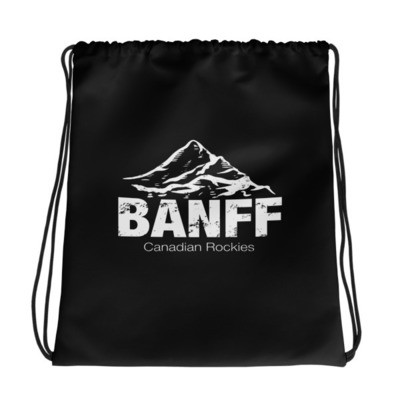 Banff Mountain Alberta Canada - Drawstring bag - The Rockies Canadian Rockies Canadian Rocky Mountains