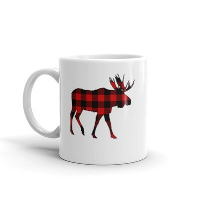 Plaid Moose - Mug