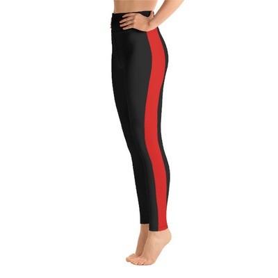 Red Tape Side Printed - Sport Leggings