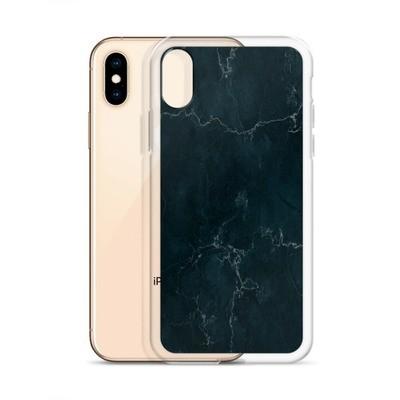 Dark blue Marble Print - iPhone Case