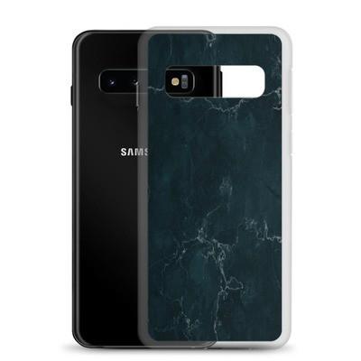 Dark Blue Marble Print - Samsung Case