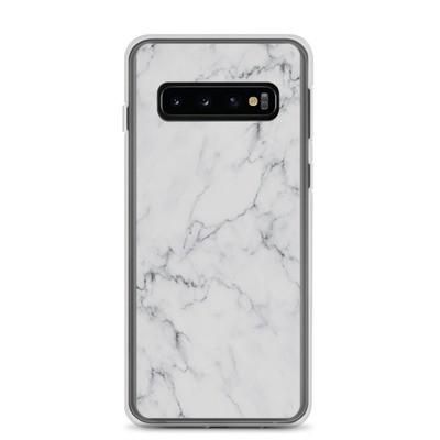 White Marble Print - Samsung Case