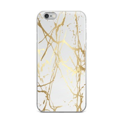 Gold Marble Print - iPhone Case