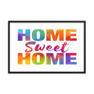 WaterColor - Home Sweet Home (Framed poster)