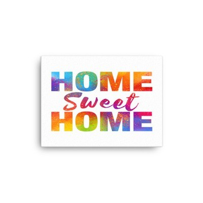 WaterColor - Home Sweet Home (Canvas)