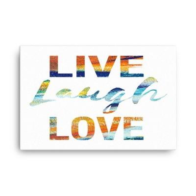 Paint - Live Laugh Love (Canvas)