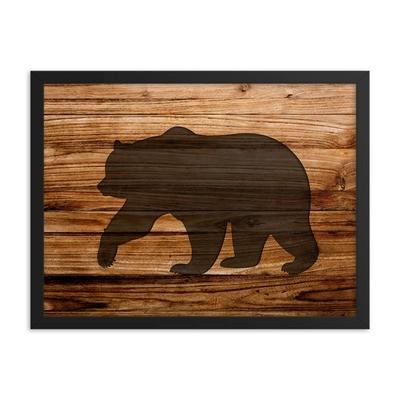Wood Print - Bear (Framed poster)