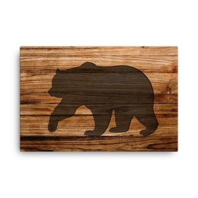 Wood Print - Bear (Canvas)