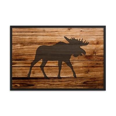 Wood Print - Moose (Framed poster)