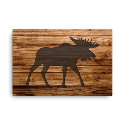 Wood Print - Moose (Canvas)