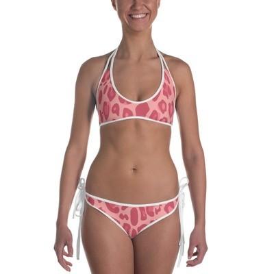 Pink Leopard Print - Bikini