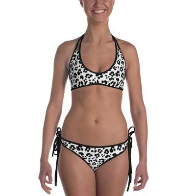 Black & White Leopard Print - Bikini