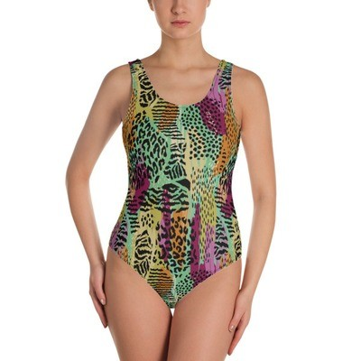 Animal Collage - One-Piece Swimsuit