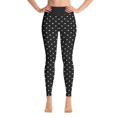 Black Polka Dot - Active Leggings