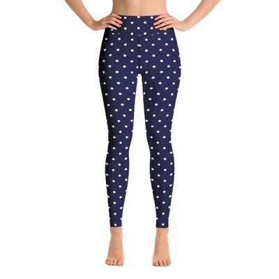 Blue Polka Dot - Active Leggings