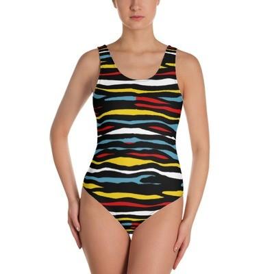 Paint Stripes - One-Piece Swimsuit