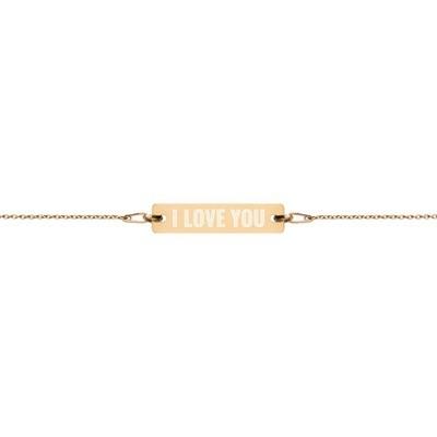 I Love You - Engraved Chain Bracelet