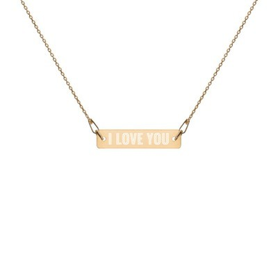 I Love You - Engraved Chain Necklace