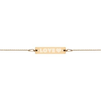Love - Engraved Chain Bracelet