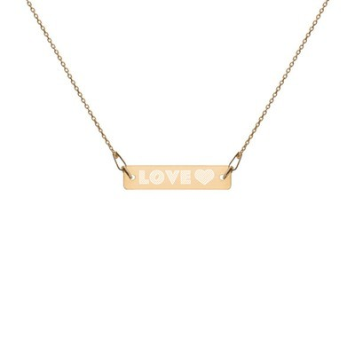 Love - Engraved Chain Necklace