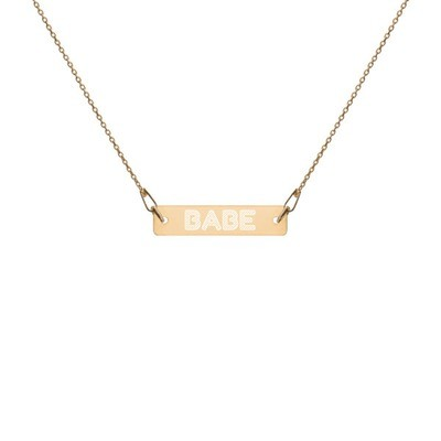 Babe - Engraved Chain Necklace