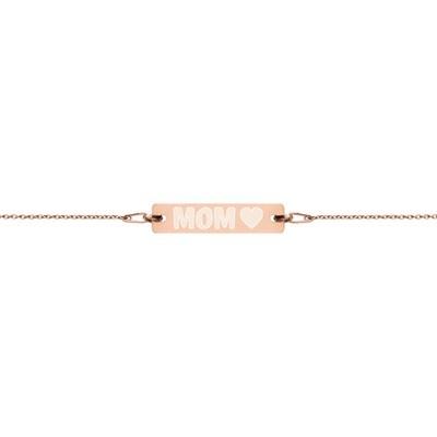 Mom - Engraved Chain Bracelet