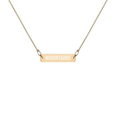 Mountains - Engraved Chain Necklace