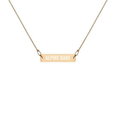 Alpine Babe - Engraved Chain Necklace