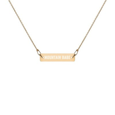 Mountain Babe - Engraved Chain Necklace