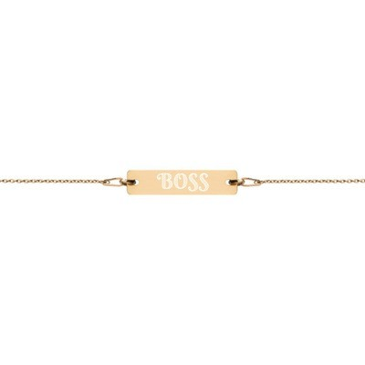 Boss - Engraved Chain Bracelet