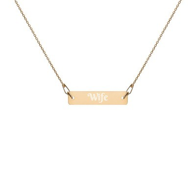 Wife - Engraved Chain Necklace