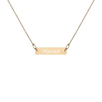 Married - Engraved Chain Necklace