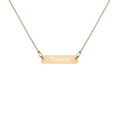 Fiance - Engraved Chain Necklace