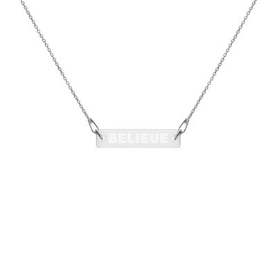 Believe - Engraved Chain Necklace