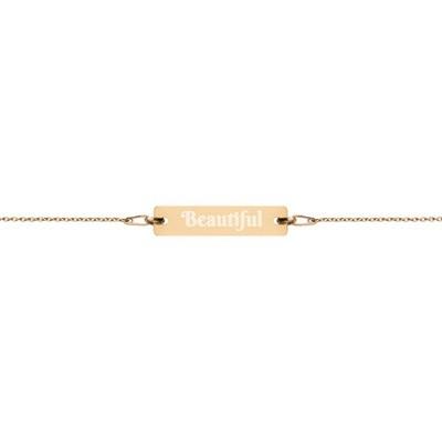 Beautiful - Engraved Chain Bracelet