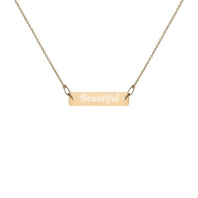 Beautiful - Engraved Chain Necklace