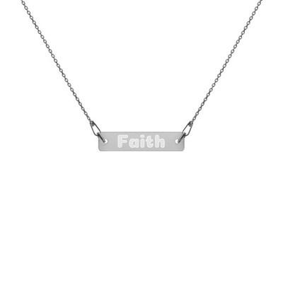 Faith - Engraved Chain Necklace