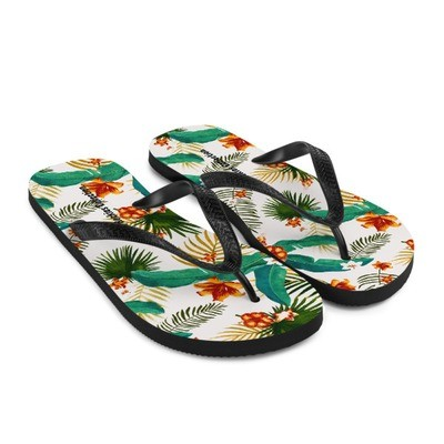 Tropical Floral - Flip-Flops