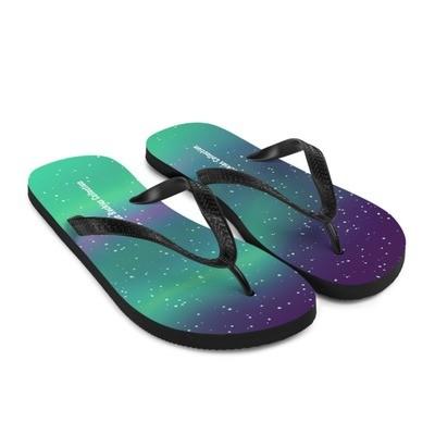 Aurora / Northern Lights - Flip-Flops