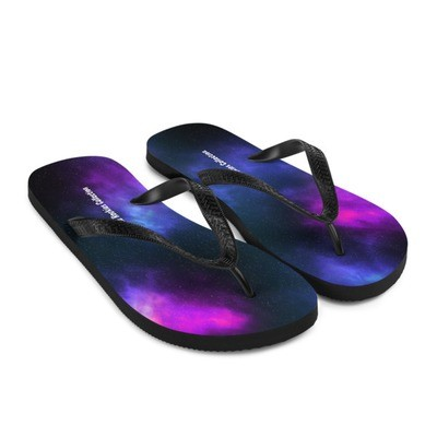Galaxy Print - Flip-Flops