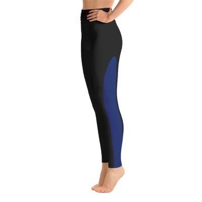 Blue Tape Side - Active Leggings